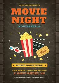 Movie Night Flyers - Kleo.beachfix.co