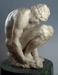michelangelo buonarroti crouching boy the museum hermitage