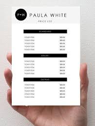 Price Guide Template