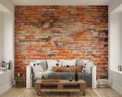 Small Picture Brick wall decal Etsy