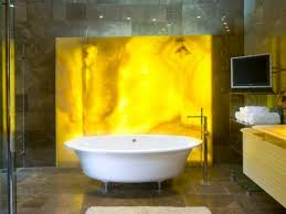 onyx slab backlit bathtub