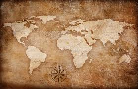 Map Of The World Background Grunge World Map Background With Rose Compass Dawns Escapades