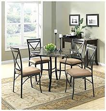 marble top dining room table. New Classic Elegant Mainstays 5-Piece Faux Marble Top Dining Set Look Room Table