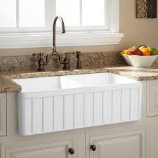 White Apron Kitchen Sink 33 Oldham Double Bowl Fireclay Farmhouse Sink White Kitchen