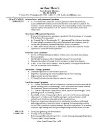 Special Police Officer Sample Resume Executive Summary Template
