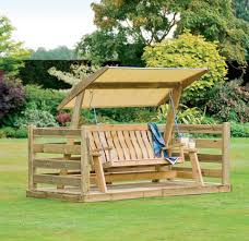 unusual garden furniture. Patio : Marvelous Deck And Furniture Image Design Swing Unusual Pictures Concept Outdoor Wooden Set With Canopy Oak Wood Frame Natural Garden Benches A