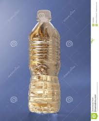 Gold Water Bottle On Blue Stock Photo Image Of Object 11053494