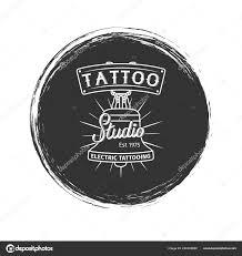 гранж тату студия логотип векторное изображение Ssstocker 220332880