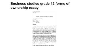 forms of ownership business studies grade 12 forms of ownership essay google docs