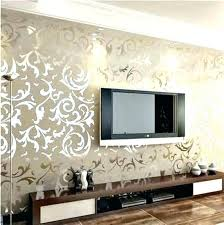 D  Fresh Decoration Wallpaper And Paint Ideas Living Room  Feature Wall