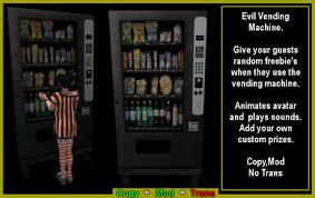 Cut Ur Prize Vending Machine Awesome Second Life Marketplace Evil Vending Machine Boxed