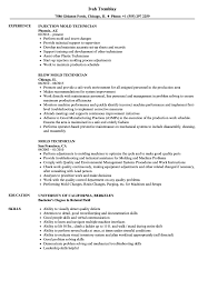 Mold Technician Resume Samples Velvet Jobs