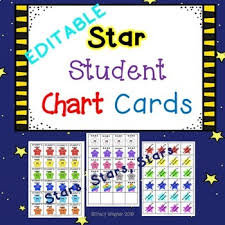 Star Student Chart Pocket Chart Cards Star Student Editable