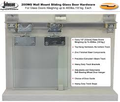 two diffe door guides are supplied with the hardware set for maximum installation flexibility 14 16 gauge zinc trivalent plated steel parts