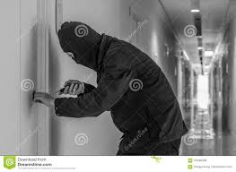 door lock and key black and white. Robber With Black Tights Over The Head Breaking Door Lock. Stock Photo - Image Of Destruction, Forbidden: 102466358 Lock And Key White