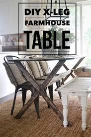 diy x leg farmhouse table