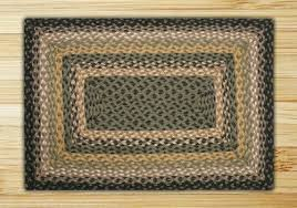 black mustard and cream rectangle braided rug farmhouse area rugs by uber bazaar