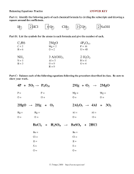 page 1 of 4 balancing chemical equations practice sheet balance chemical equations worksheet 3 answer