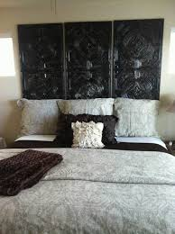 artistic black carving wooden headboard ideas for queen beds plus fl pattern bedding sets