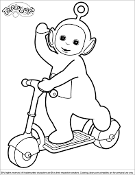 Small Picture Teletubbies Coloring Picture