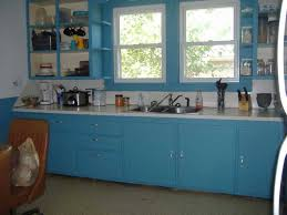 painted kitchen cabinets ideas. Country Blue Painting Kitchen Cabinets Ideas With Window And Tile Flooring . Painted