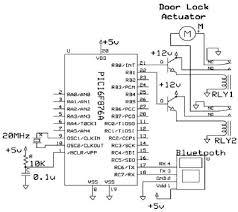 schematic of car door lock system