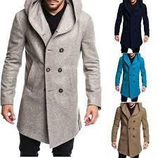 <b>Men's</b> Trench Coat Jacket <b>Spring</b> And <b>Autumn Men's</b> Casual <b>Men's</b> ...