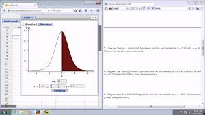 Computing The P Value Using The Test Statistic And