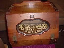 antique bread box with glass door
