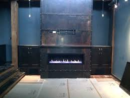 copper fireplace surround hammered