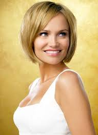 smooth short bob hairstyle with side