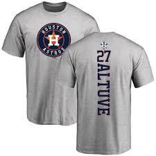 Backer Jose T-shirt Ash Houston Altuve - Men's Astros