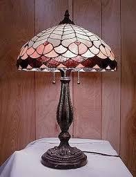 vintage stained glass lamp beautiful base modern reions fakes and ruby lane