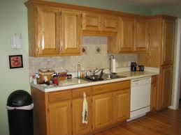 Adorable Golden Oak Cabinets Backsplash Wall Dove Update Remodel