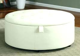 large oval storage ottoman round coffee table endearing fancy tufted brown