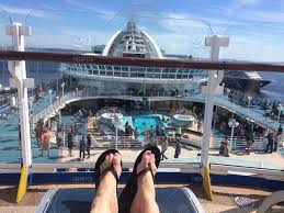 stock photo feet up cruise cruise ship flipflop my