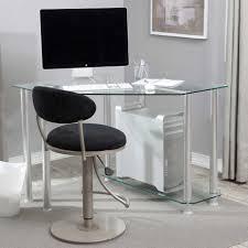 unique modern glass computer desk premium white lacquer executive