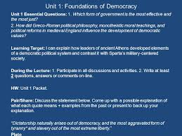 athenian form of government unit 1 foundations of democracy ppt video online download
