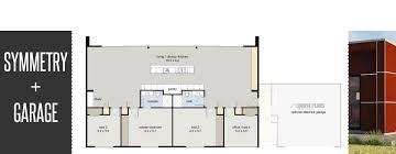 housing floor plans. Symmetry + Garage Housing Floor Plans
