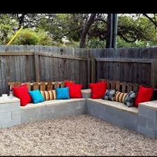 Cinder Block Furniture Backyard