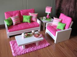 Pink Living Room Furniture 18 Doll Furniture American Girl Sized Living Room