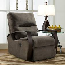 Swivel Rocker Recliners Living Room Furniture Rocker Recliner With Wooden Arms By Southern Motion Available At