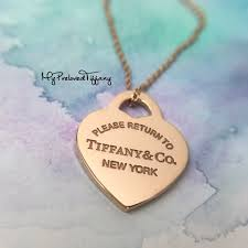 excellent tiffany co return to tiffany rubedo metal heart necklace women s fashion jewellery necklaces on carou