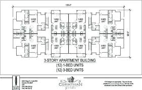 Emejing 4 Unit Apartment Building Plans Photos  Home Decorating 12 Unit Apartment Building Plans