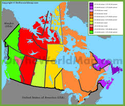 Time Map Canada Time Zone Map