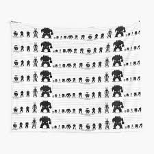 Warhammer 40k Size Chart Wall Tapestry