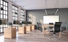 loft style office. Perfect Loft Modern Loft Style Office With Gray Wall 3d RenderThe Rooms Have Wooden  Floors And Inside Loft Style Office F