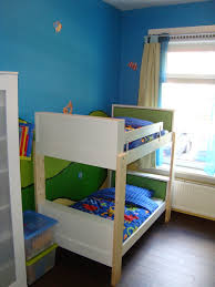 ikea bedroom ideas blue. Charming Space Saving Shared Bedroom Decoration With Various Ikea White Bunk Bed : Exquisite Blue Boy Ideas G