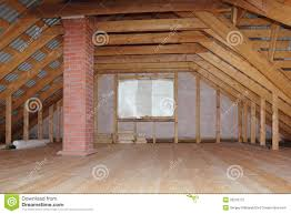 attic in house. royaltyfree stock photo download attic with chimney in wooden house a