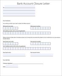 Bank Account Closure Letter Template